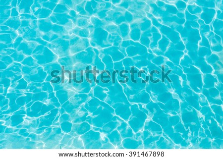 Pattern on a swimming pool