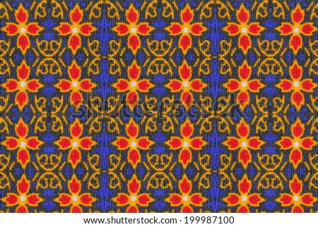 Pattern on cloth texture , general traditional Thailand style