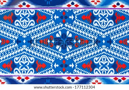 Pattern on the fabric of the sarong background