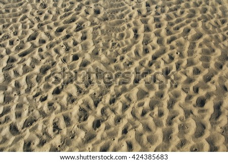 pattern on the sands