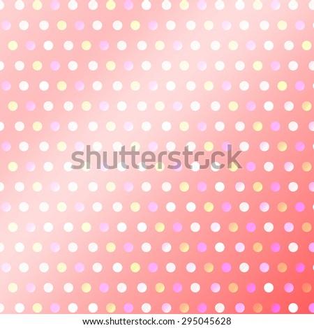 Pattern pink polka dot background. - stock photo