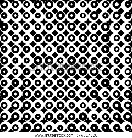 Pattern retro black and white background, raster version