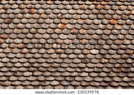 pattern roof wood.  - stock photo