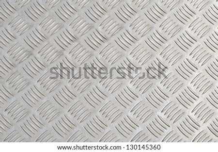 pattern style of steel floor background - stock photo