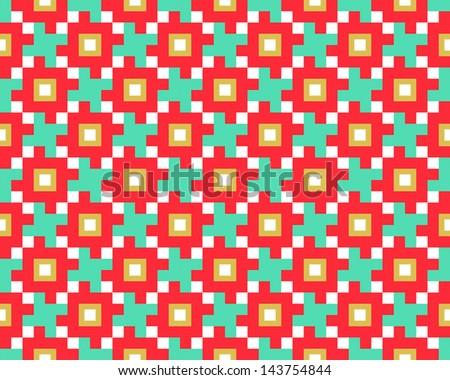 pattern tetris - stock photo