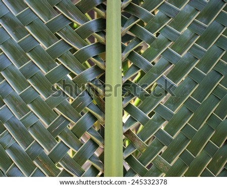 Pattern weaving of coconut leaves  - stock photo