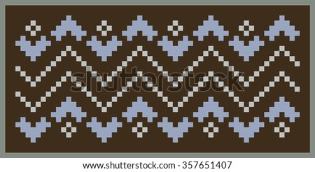 Pattern with a picture of the Norwegian patterns. Wool knitted texture. The stylized image of snake skin.. Wool knitted texture. Illustration