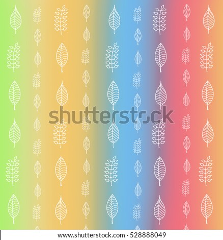 pattern hand drawn abstract leafs can stock illustration 528888049