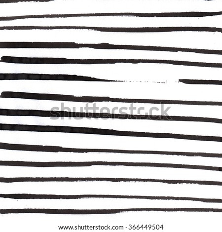 pattern with hand drawn lines. Ink illustration. Striped background. - stock photo