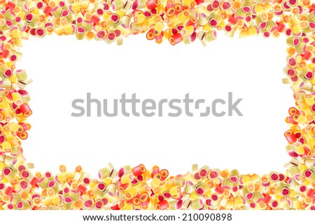 pattern with lot of a fruit candies for background - stock photo