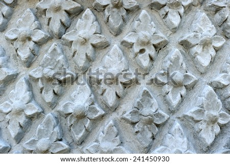 Patterned molded decorate on the walls. - stock photo