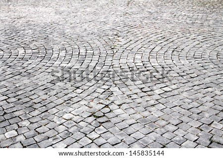 patterned paving tiles - stock photo