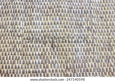 Patterns and textures of mats woven from Rattan. - stock photo