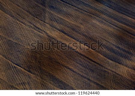 Patterns in a plowed field - stock photo