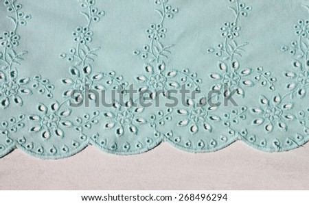 patterns of textile handmade embroidery background  - stock photo