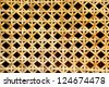 Pattren of the weaves rattan - stock photo