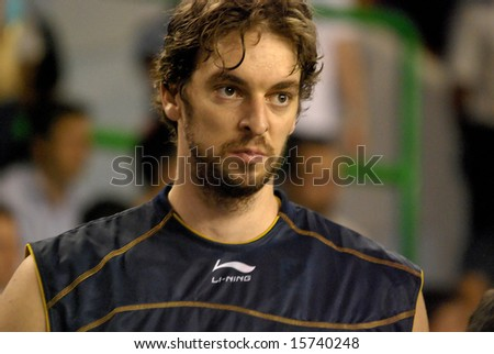 Pau Gasol, Los Angeles Lakers, NBA Star - stock photo