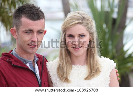 Paul Brannigan and Siobhan Reilly during the 'The Angel's Share' photocall during the 65th Cannes Film Festival, Cannes, France. 22/05/2012 Picture by: Henry Harris / Featureflash