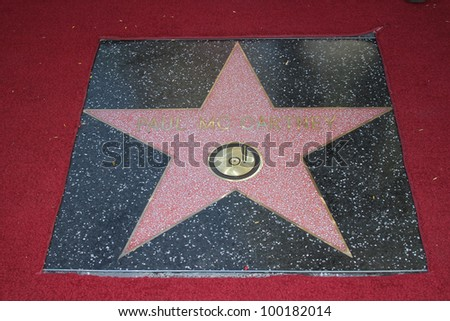 Paul McCartney at the Paul McCartney Star on The Hollywood Walk Of Fame Ceremony, Hollywood, CA 02-09-12
