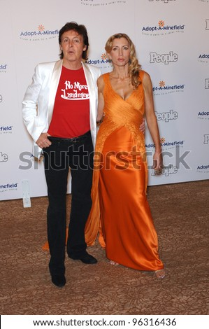 PAUL McCARTNEY Wife HEATHER MILLS At The Fifth Annual Adopt A Minefield
