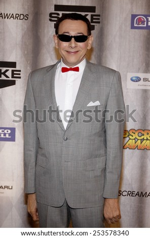 Paul Reubens at the Spike TV's 2011 Scream Awards held at the Gibson Amphitheatre in Universal City on October 15, 2011. - stock photo