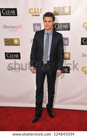 Paul Wesley at the 18th Annual Critics' Choice Movie Awards at Barker Hanger, Santa Monica Airport. January 10, 2013  Santa Monica, CA Picture: Paul Smith - stock photo