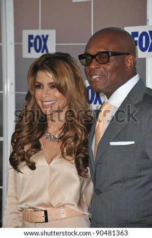 Paula Abdul & L.A. Reid at the Fox TV Summer 2011 All-Star Party at Gladstones Restaurant, Malibu. August 5, 2011  Malibu, CA Picture: Paul Smith / Featureflash - stock photo