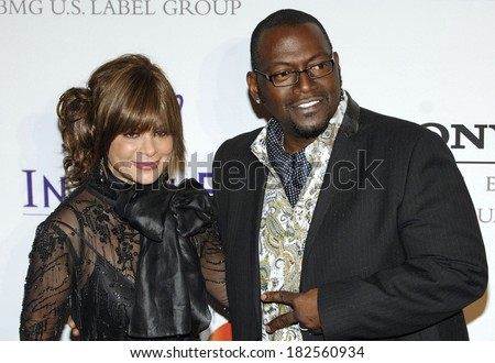 Paula Cole, Randy Jackson at Clive Davis Pre-Grammy Party, Beverly Hilton Hotel, Los Angeles, CA, February 09, 2008 - stock photo