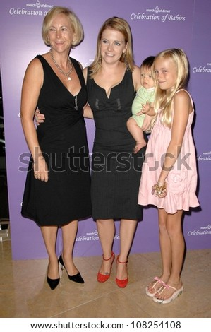Paula Hart with Melissa Joan Hart and Alexandra Hart-Gilliams  at 'Celebration of Babies' luncheon to benefit March of Dimes. Beverly Hilton Hotel, Beverly Hills, CA. 09-27-08 - stock photo