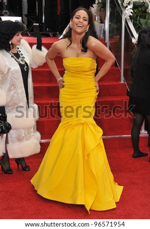 Paula Patton at the 69th Golden Globe Awards at the Beverly Hilton Hotel. January 15, 2012  Beverly Hills, CA Picture: Paul Smith / Featureflash - stock photo