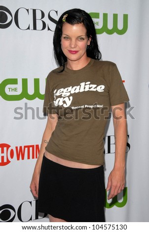 Pauley Perrette at the CBS, CW and Showtime All-Star Party. Huntington Library, Pasadena, CA. 08-03-09
