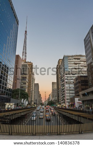 Paulista Avenue - Sao Paulo - Brazil - stock photo