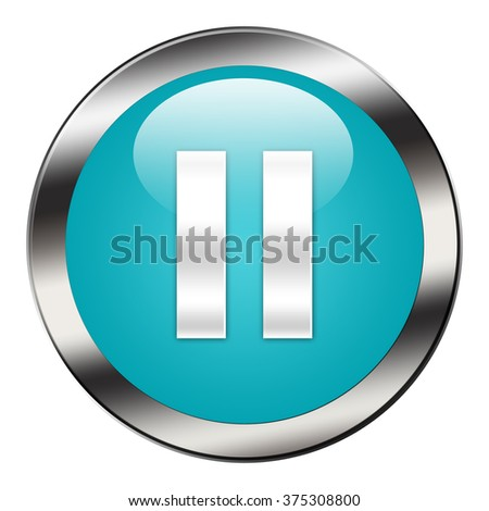 pause button isolated - stock photo