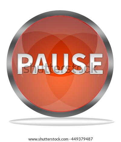 pause button isolated