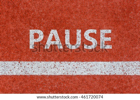 Pause line, Pause written on running track