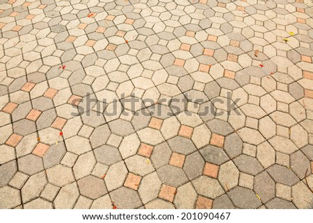 Pavement Background of cement block