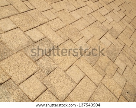 pavement Background of grey cobble stones - stock photo