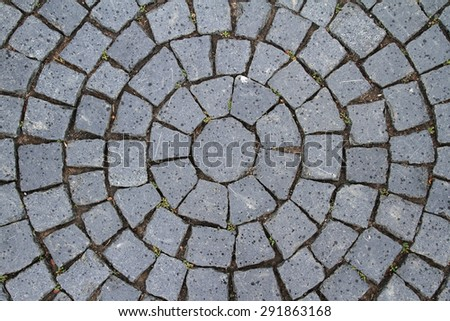 Pavement Circle Pattern Closeup