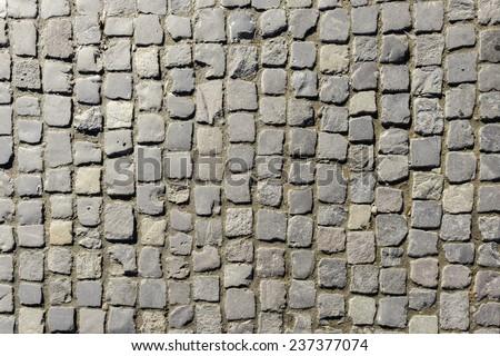 Pavement - Cobblestones - stock photo