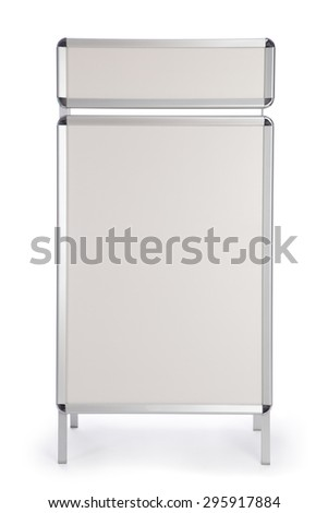 Pavement sign for placing images and texts - stock photo