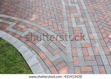 pavers - stock photo