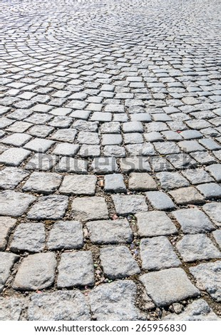 pavers in pedestrian symbol for road construction, structure, background - stock photo