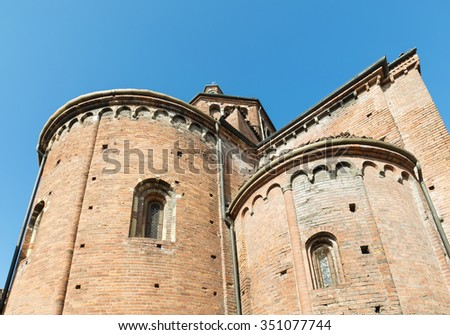 Pavia (Lombardy, Italy), apse of the medieval church of San Teodoro, built in 12th century
