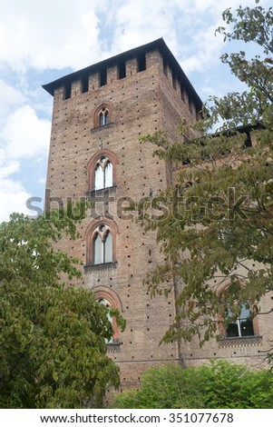 Pavia (Lombardy, Italy): the medieval castle known as Castello Visconteo