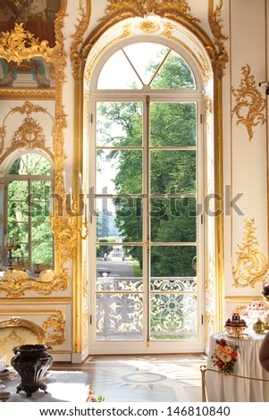 Pavilion Hermitage, Pushkin, St. Petersburg, Russia - stock photo