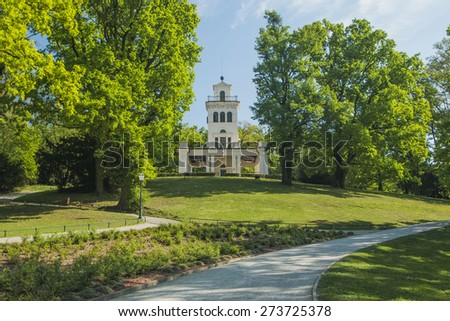 Pavilion in park Maksimir in Zagreb, Croatia - stock photo