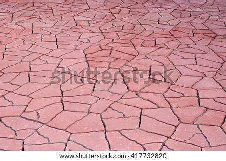 Paving cement block background texture, walkway. - stock photo
