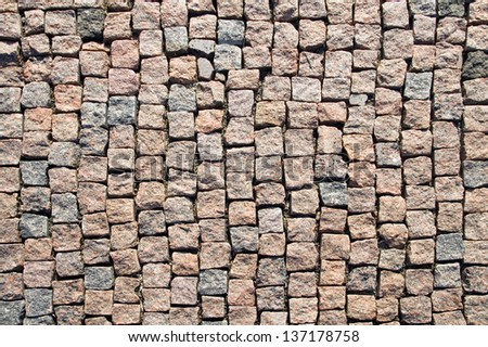 Paving closeup background. - stock photo