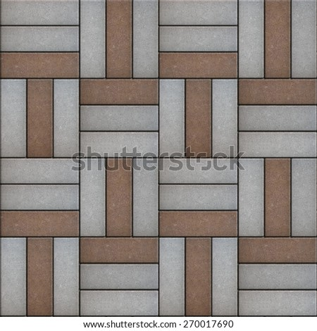 Paving  Geometric Shapes Consisting of a Rectangular Form. Seamless Tileable Texture.