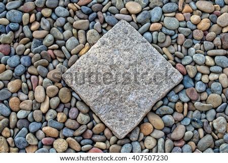Paving pebble Patio - stock photo